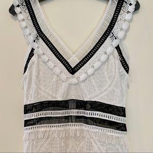 ☀️jonathan simkhai v neck white lace maxi dress 4
